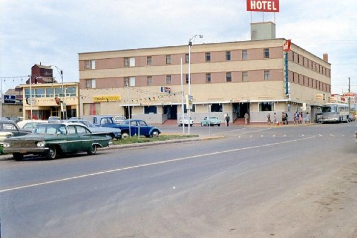 Windsor Hotel, 102nd Ave and 11 St. Dawson Creek, BC, August 1967