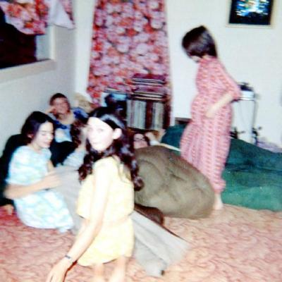 Canadian Girls in Training, Grade 7's P.J. Party . Dawson Creek, B.C. 1969