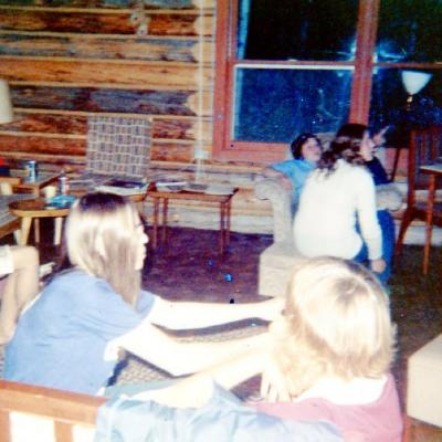 Canadian Girls in Training, Weekend Campout at cabin at Moberly Lake. B.C. 1969