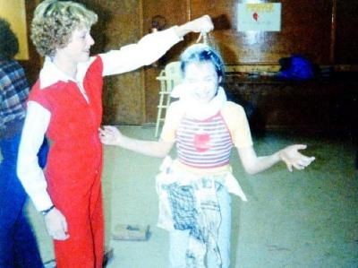 Canadian Girls in Training, Carey and Sara at initiation . Dawson Creek, B.C. 1979
