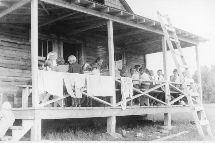 Camp at Swan Lake, Tupper, BC ca 1940's