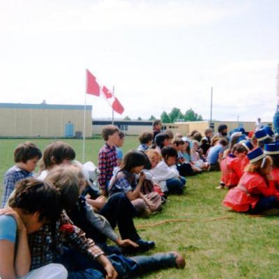 Parkhill School, Grade 3, Canada Day Parade Dawson Creek, BC June 1980