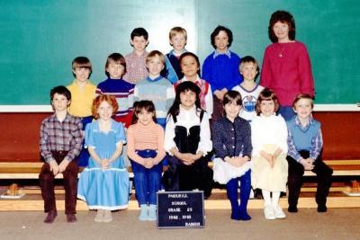 Parkhill School, Dawson Creek, BC 1982 -83