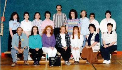 Pouce Coupe Elementary School, Staff Pouce Coupe, BC 1996 - 1997
