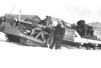 Diesel Tractor Convoy to Fort Nelson  1942