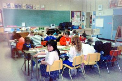 Pouce Coupe Elementary School, Year 2 & 3 Class, Pouce Coupe, BC 1992
