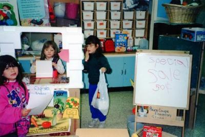 Pouce Coupe Elementary School, Store Centre with Candice S. Chantelle N. and Ashley J. Pouce Coupe, BC 1994
