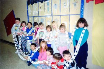 Pouce Coupe Elementary School, Year 2 & 3 Class, Pouce Coupe, BC 1991