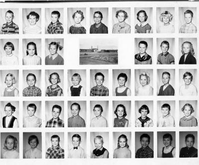 Margaret Slowinski,third from the right. Grandview School, Class 4. Dawson Creek, BC 1960