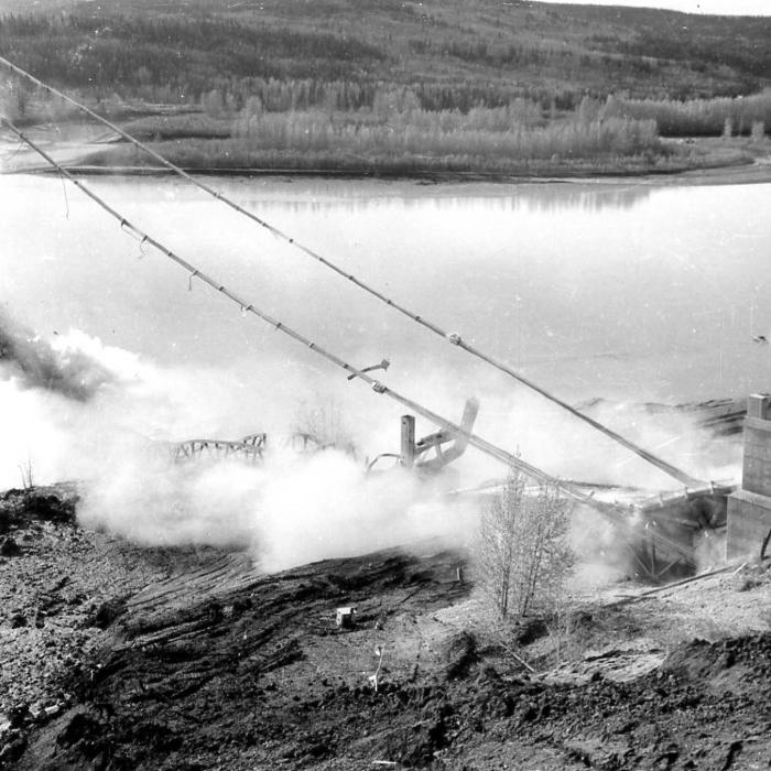 Peace River Bridge Collapse Taylor, BC, October 16, 1957