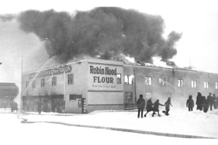 Dawson Creek Co-op Fire  1948