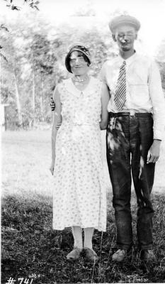 Evenson, and Knute Ellingson. Peace River area, BC, 1933