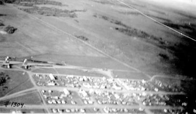 Aerial pictures of the sports grounds and surrounding area, Dawson Creek, B.C., July 8 & 9, 1937