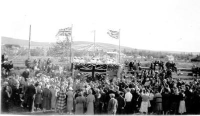 Lord and Lady Tweedsmuir, Governor General.'s visit. Dawson Creek, BC, August 17, 1939