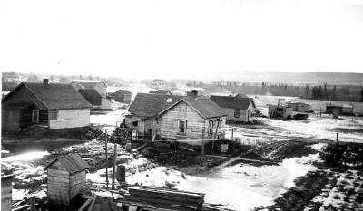 Housing around Dawson Creek, Dawson Creek , B.C., February 14, 1943