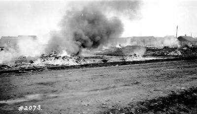 Fire and Explosion February 13, 1943, The day after. Dawson Creek , B.C., February 14, 1943
