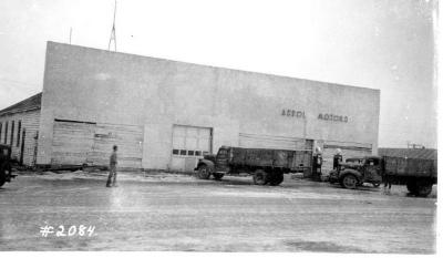 Fire and Explosion February 13, 1943, The day after. Aspol Motors, West of 11th St. Dawson Creek , B.C., February 14, 1943