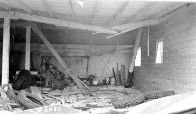 Fire and Explosion February 13, 1943, The day after. West of 11th St. Dawson Creek , B.C., February 14, 1943