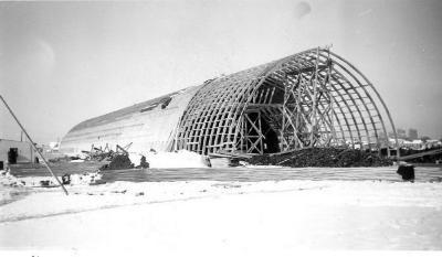 R.M. Smith building built by Harold Harvey Contacting, Dawson Creek , B.C., February, 1943