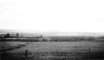 Dawson Creek, looking southwest. Dawson Creek , B.C., 1943