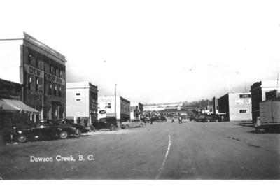 10th Street looking north from 103rd Ave  Dawson Creek, BC 1942-43
