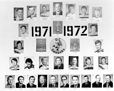 D.C. Canucks Hockey Team, Dawson Creek, B.C. 1971 - 1972