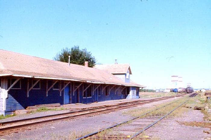 Train Station, Dawson Creek, B.C. July 1981
