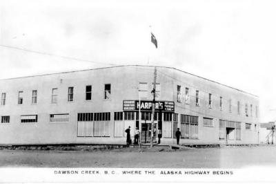 Harper's Store, 103rd Avenue and 10th Street, Dawson Creek, B.C. ca 1944