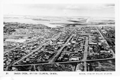 Aerial View of Dawson Creek 1949 - 1950
