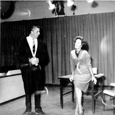 "Scenes from ""Witness for the prosecution"" play, Dawson Creek B.C. October 1961"