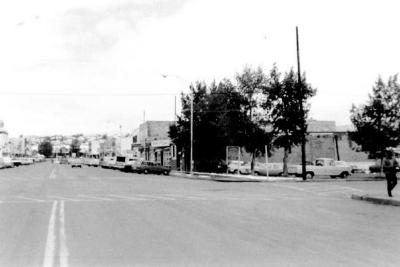 10th Street Sweet Sixteen, and Parking lots, Formerly Dills Funeral Home Dawson Creek, B.C. ca 1970's