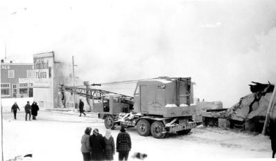 Dawson Co-operative Union Fire, Dawson Creek, B.C. February 8, 1948