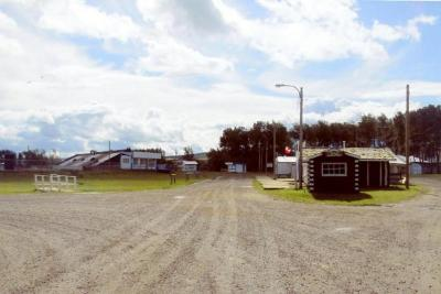 Rodeo Grand stand and concession buildings Dawson Creek, B.C. 2011