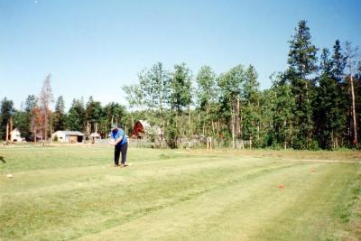 Farmington Fairways , Club house and #1 Tee, Rick Ford Farmington. B.C. 1993