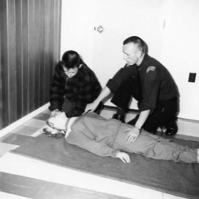 Dawson Creek Fire Departmart, CPR training, Dawson Creek,B. C. ca. 1964