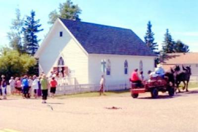 Rolla Homecoming, Rolla United Church, Corner Stone laid, July 20, 1928 Rolla, B.C. August 1996