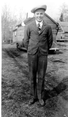 Norman Ellingsen, Dawson Creek, B.C. ca 1940