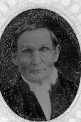 Grandfather Atkinson (tin type photograph) ca. 1890's