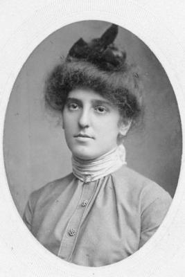 Edith D. Hopkins, taken at- KRIPS, Columbia ave. and 15th St., Philadelphia. December 25, 1900.