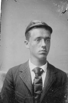 unknown man, (tin type photograph) ca. 1890's