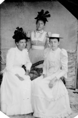 unknown ladies, (tin type photograph) ca. 1890's
