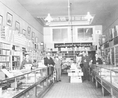 Glasscock and Vroman's store, Pasadena, California, April. 1897