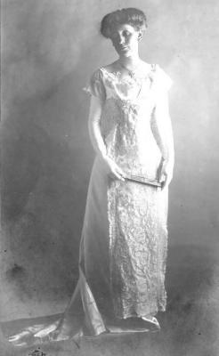 Bertie Sorver, Dress for Edwin's wedding. October 1900