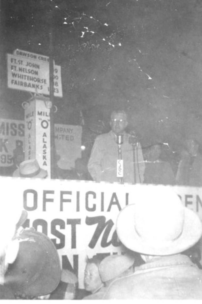 Natural gas arrives in Dawson Creek  1950