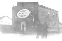 5 cents to $1 Store, 102nd Ave & 11th St.  Dawson Creek, BC 1942-1943