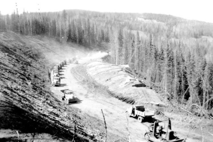 Alaska Highway  Construction  1942