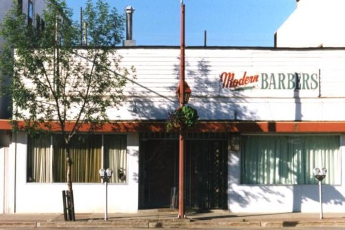Modern Barbers  Dawson Creek, BC 2003