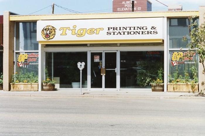Tiger Printing and Stationers  Dawson Creek, BC 2003
