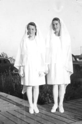 Theresa and Ella Crull 1940-45