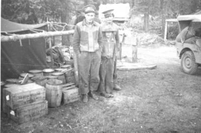 First Nations Family Group in US Army Camp  1942